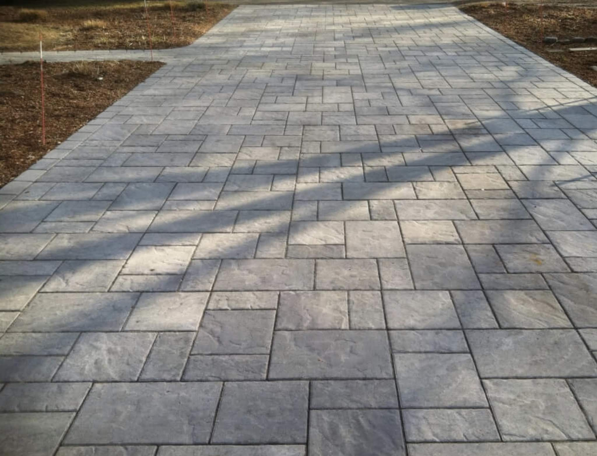 Stamped Concrete New Driveway