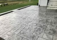 Concrete Patio Walkway and lawn