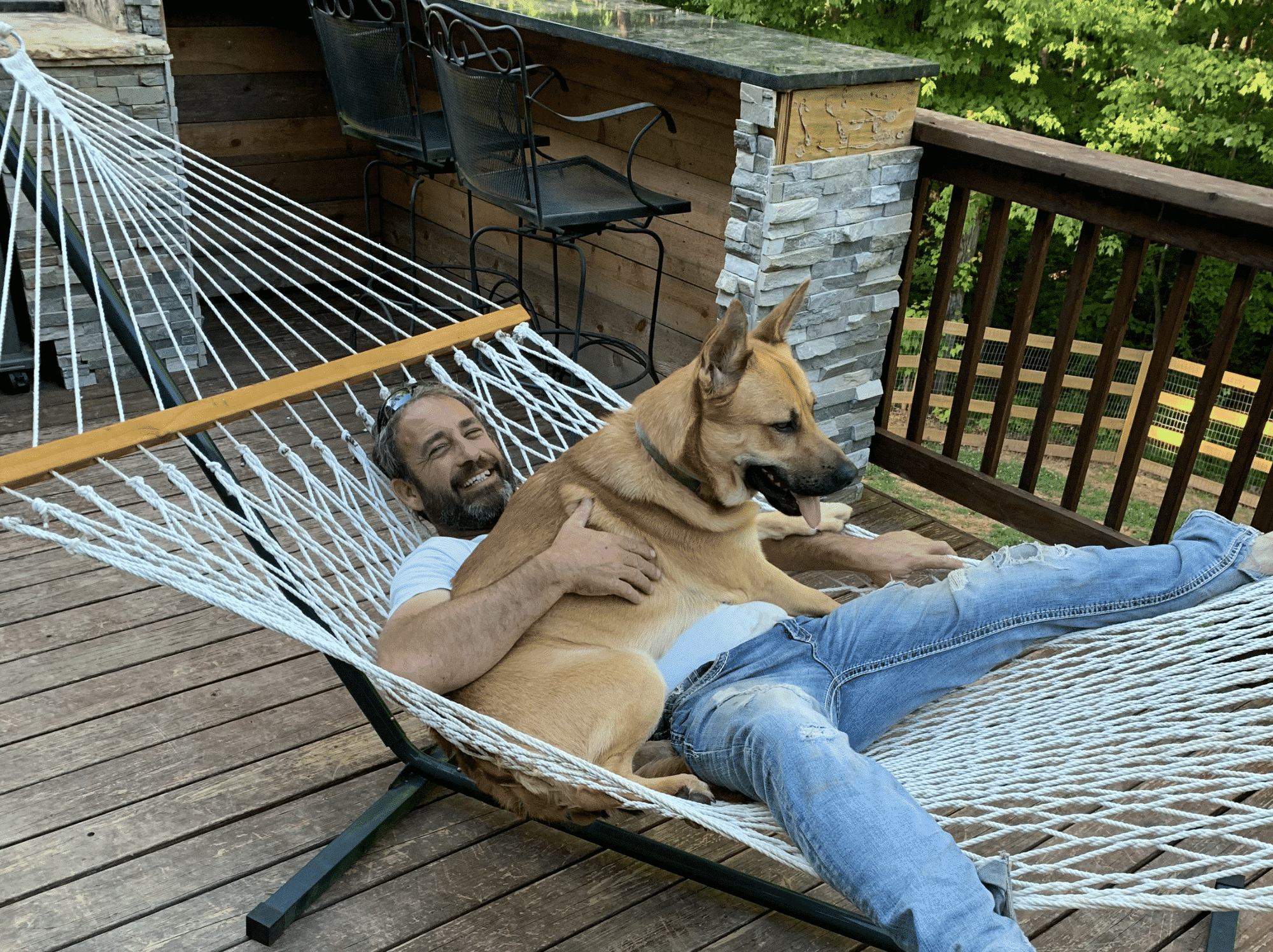 Mike and his dog