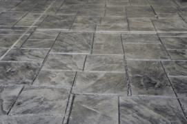 Dark Stamped Concrete