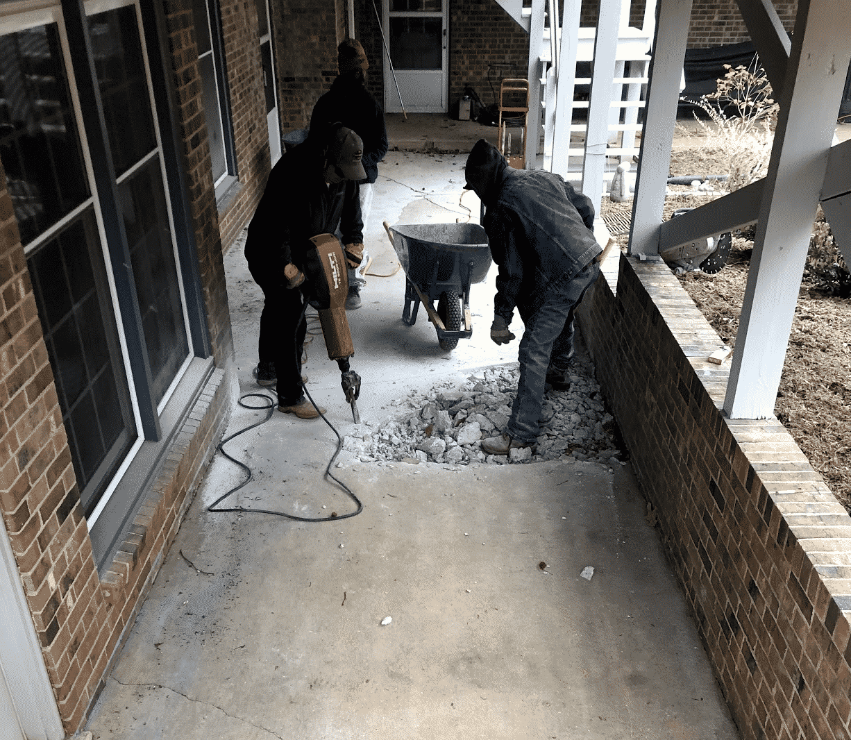 Concrete Patio Demolition Crew
