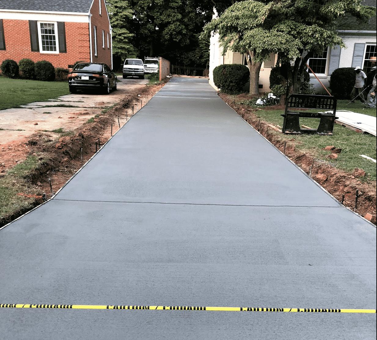 Concrete Driveway Caution Tape