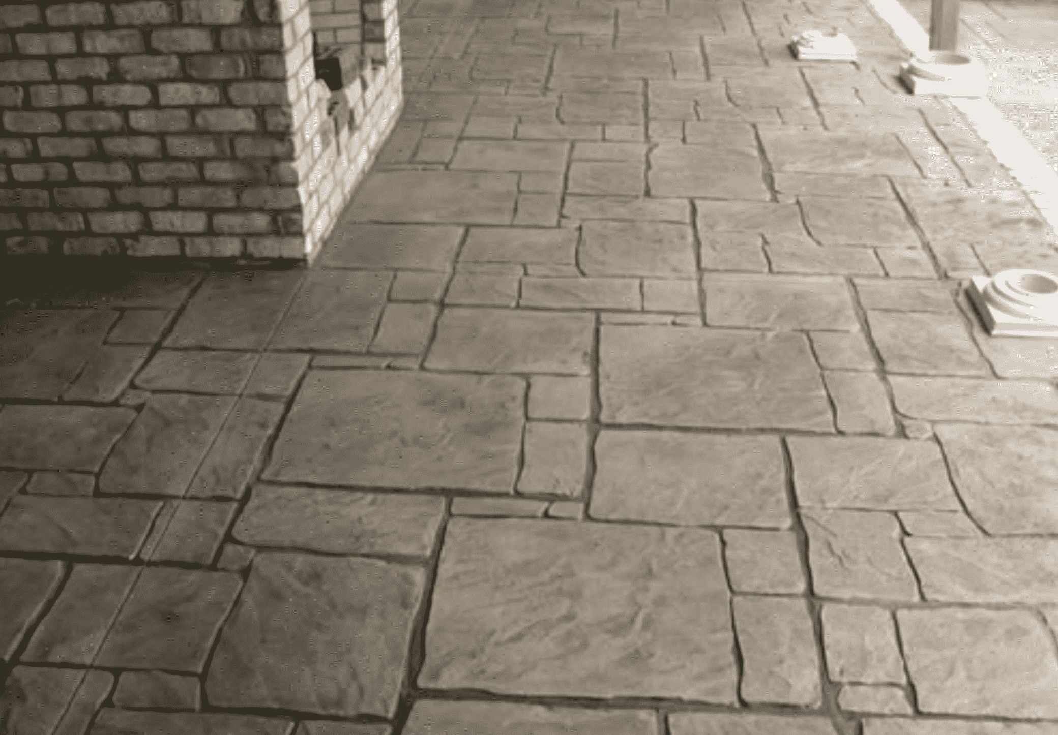 Stamped Concrete Patio & House