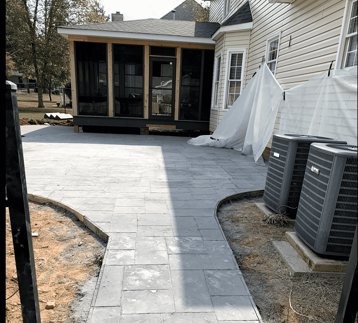 Concrete Patio and House