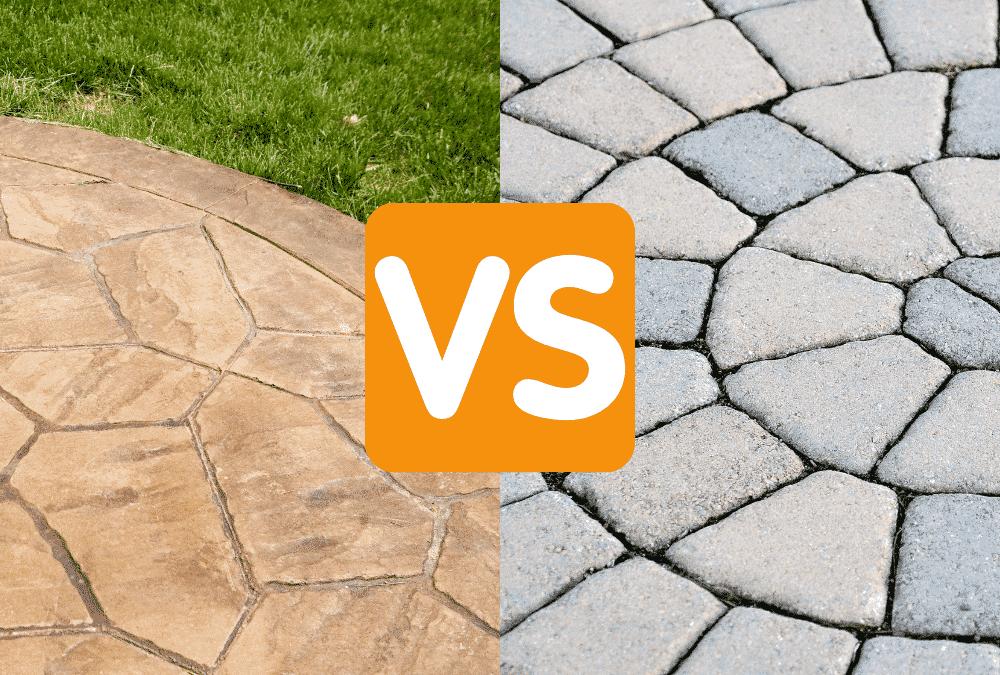 stamped concrete vs concrete paver patios