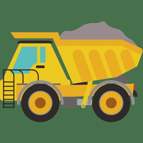 Dump Truck Hauling Material Icon