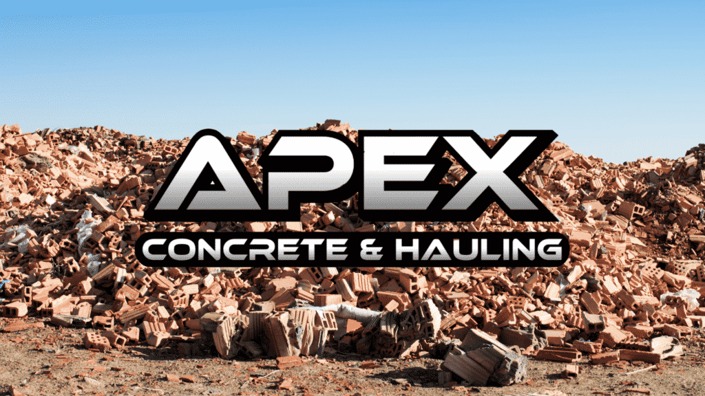 Construction Material Waste and Apex Hauling Logo